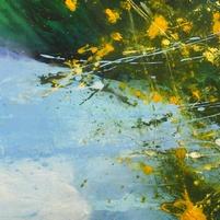 Gorse Reflections - Original oil painting